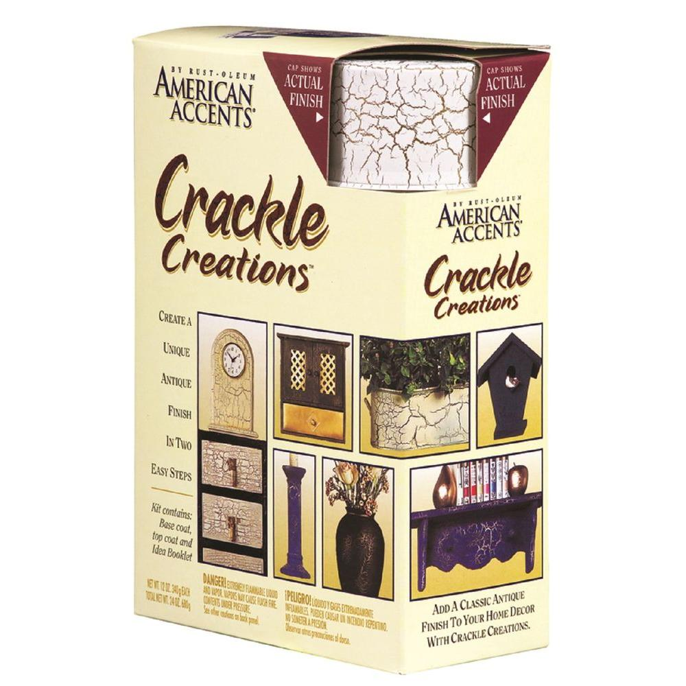 Rust-Oleum American Accents Venetian White Crackle Creations Kit