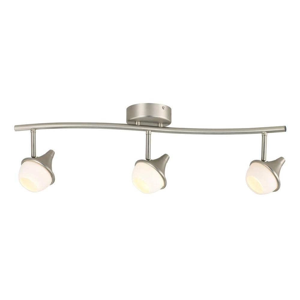 Hampton Bay 3-Light LED White Glass Shade Directional