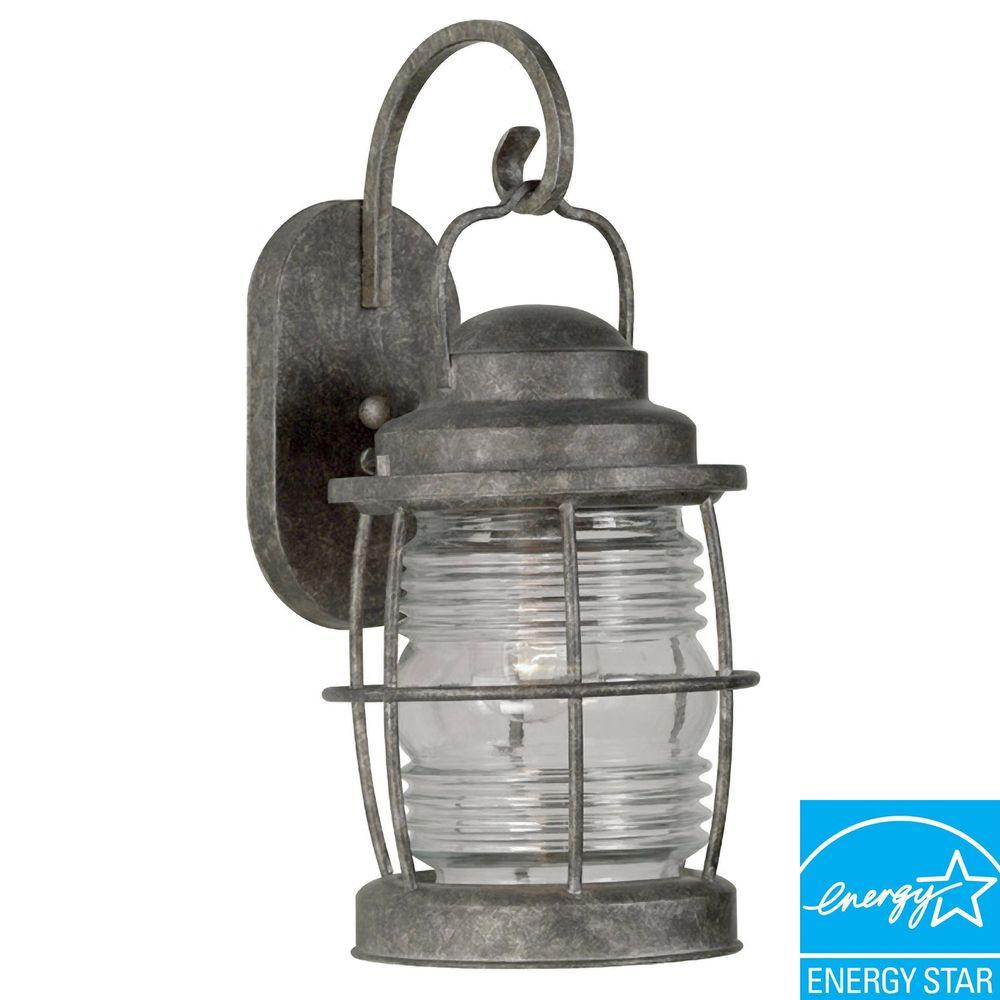 Kenroy Home Beacon Flint Large Indoor and Outdoor Wall Lantern