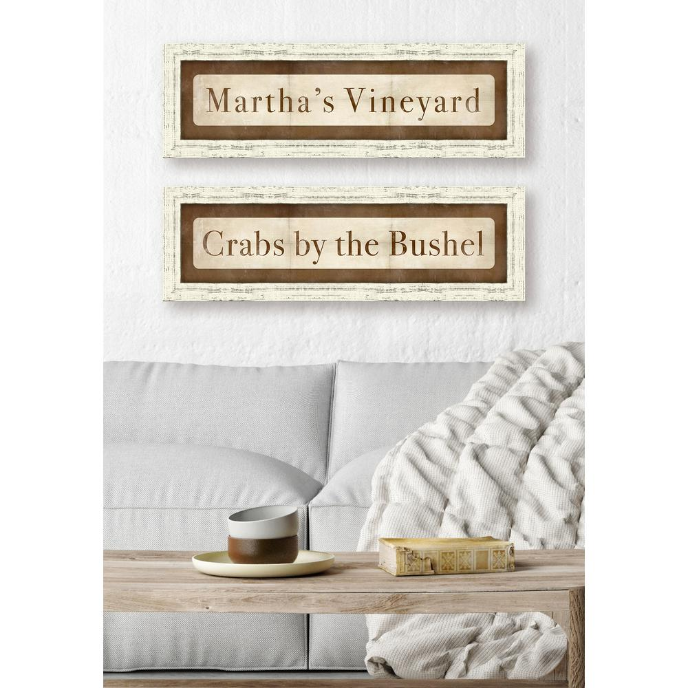 "28 in. x 9 in. ""Martha's Vineyard"" Framed Giclee Print Wall"