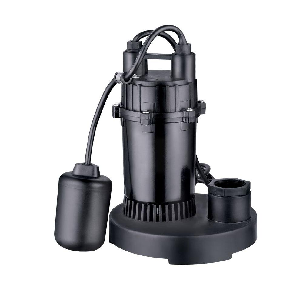 Water Source 1/3 HP Thermoplastic Sump Pump