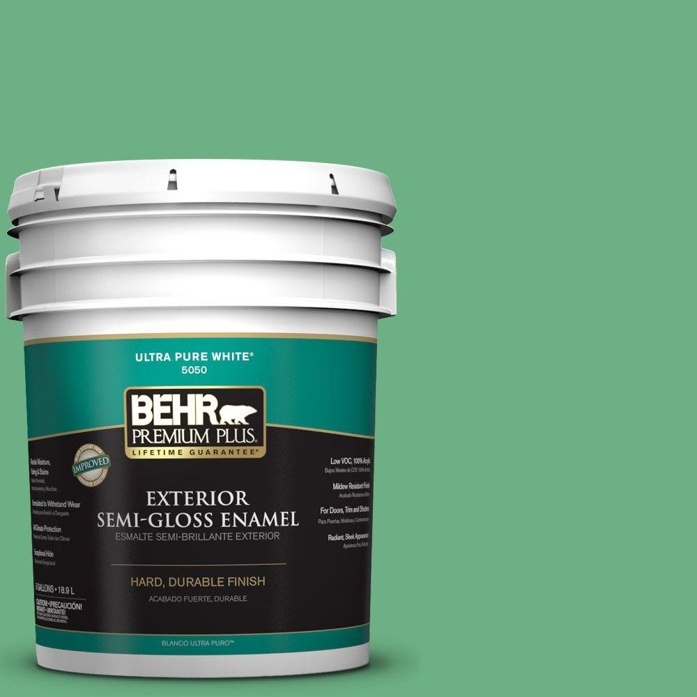 5-gal. #P410-5 Lily Pads Semi-Gloss Enamel Exterior Paint