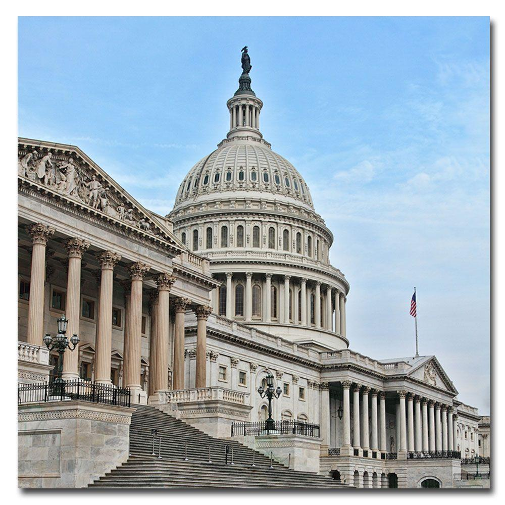 Trademark Fine Art 24 in. x 24 in. Capitol- East Front