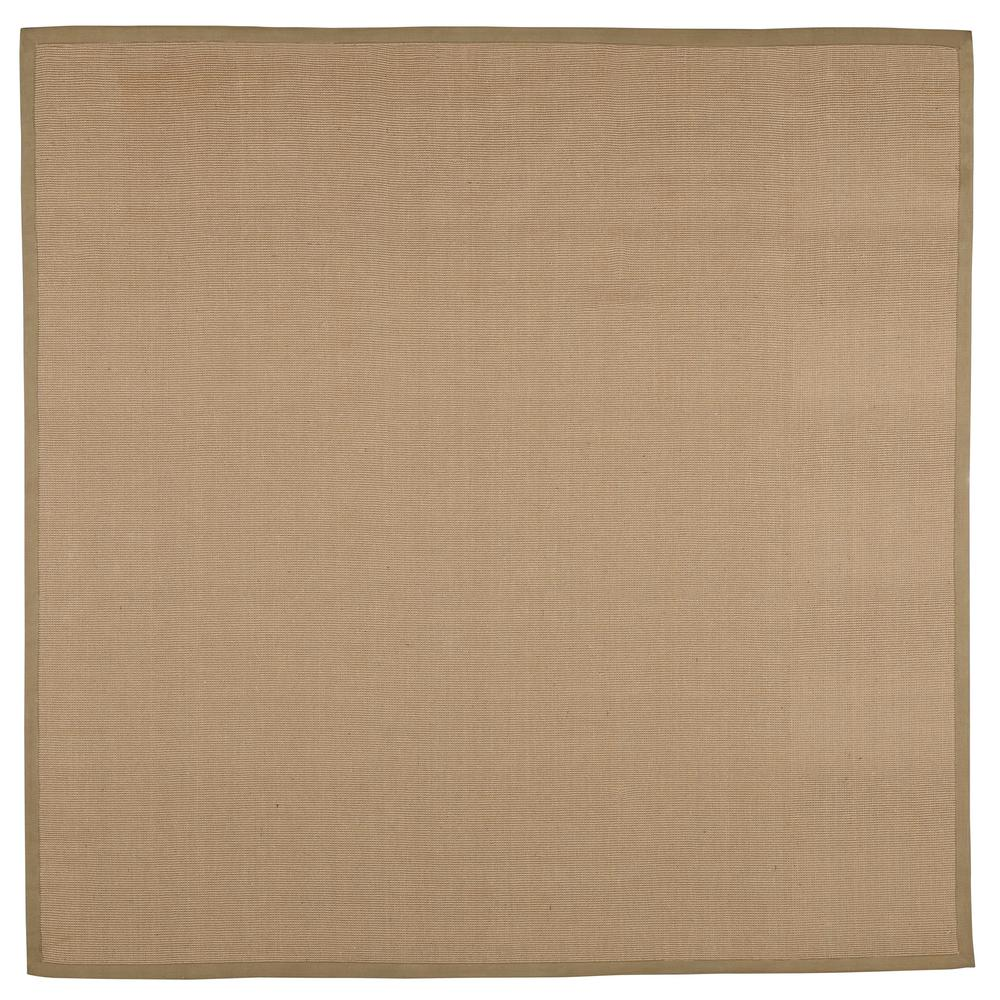 Washed Jute Beige 8 ft. x 8 ft. Square Area Rug
