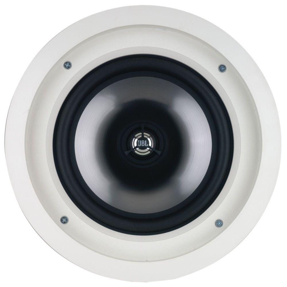 Leviton Architectural Edition Powered by JBL 100-Watt 8 in. In-Ceiling Speaker - White-DISCONTINUED