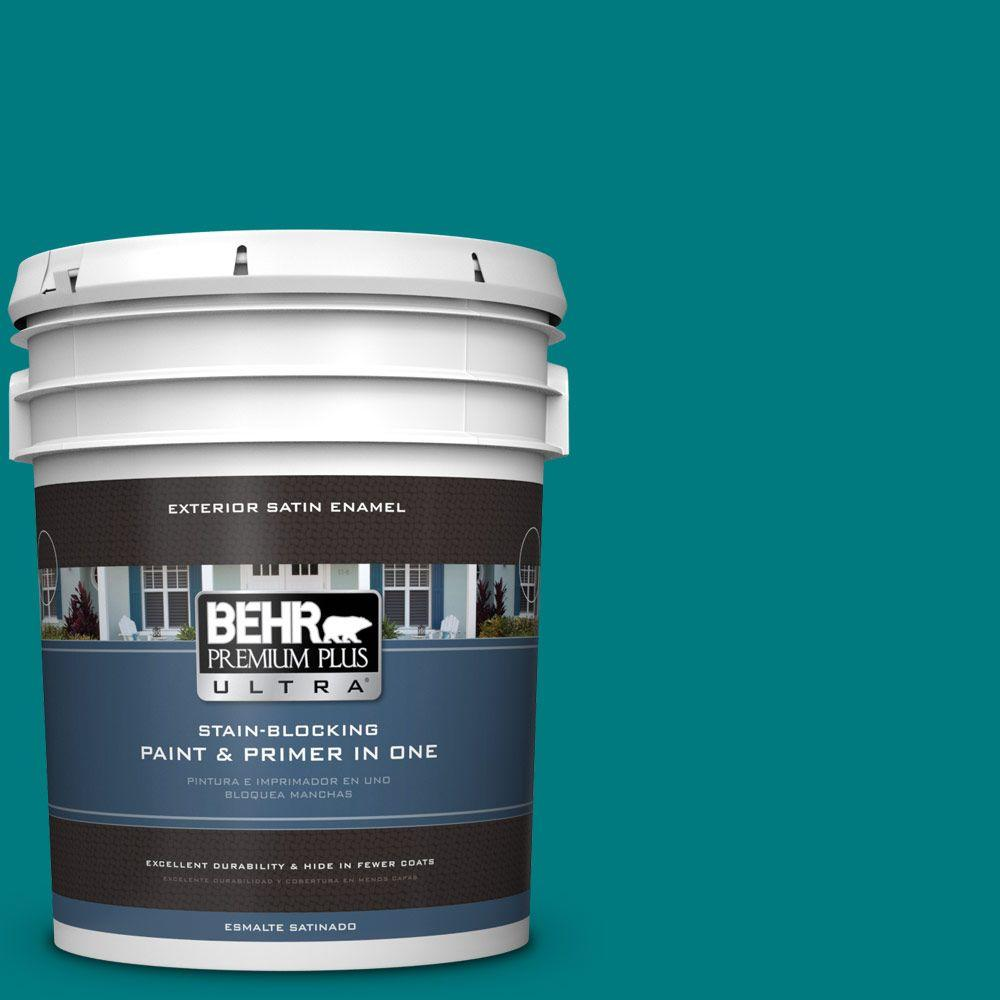 5-gal. #S-G-500 Tropical Waters Satin Enamel Exterior Paint