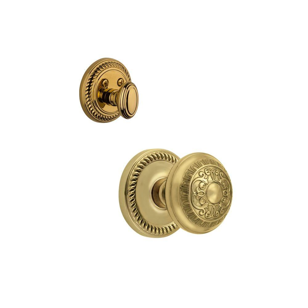 Grandeur Newport Single Cylinder Lifetime Brass Combo Pack Keyed Alike with