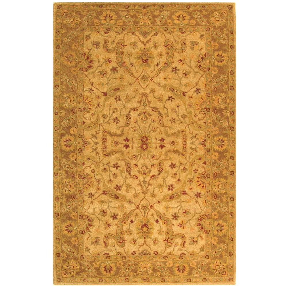 Antiquity Ivory/Brown 6 ft. x 9 ft. Area Rug