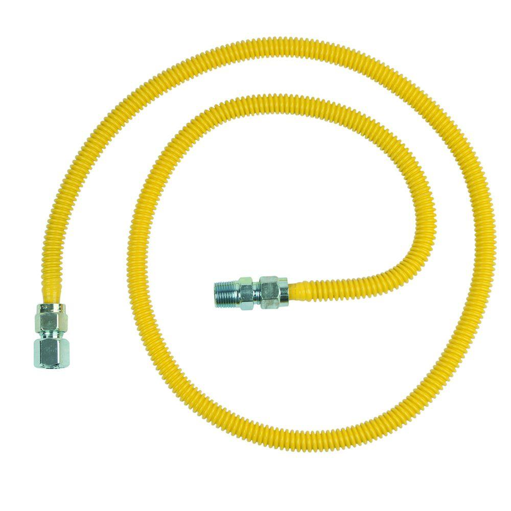 null ProCoat 1/2 in. FIP x 1/2 in. MIP x 60 in. Stainless Steel Gas Connector 1/2 in. O.D. (53,200 BTU)