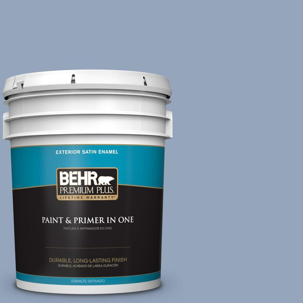 5-gal. #580F-4 River Valley Satin Enamel Exterior Paint