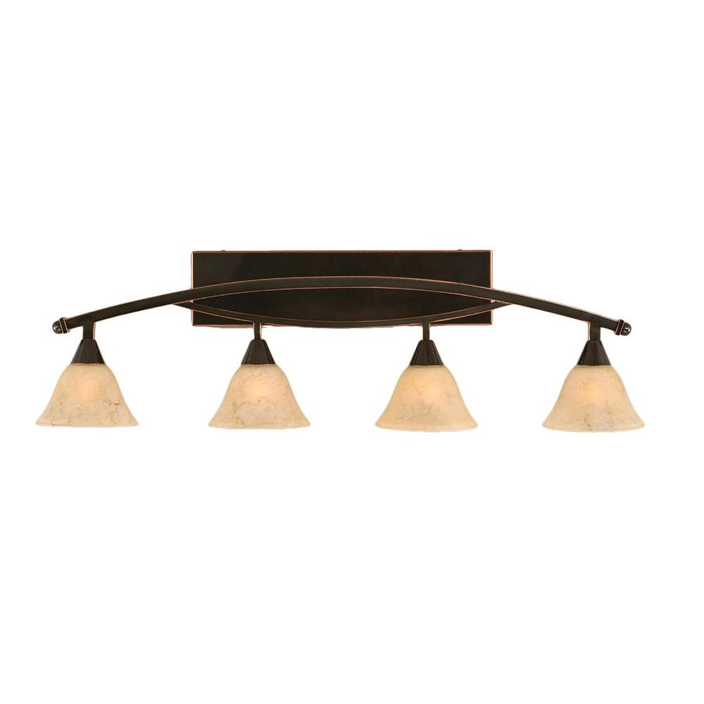 Concord 4-Light Black Copper Bath Vanity Light