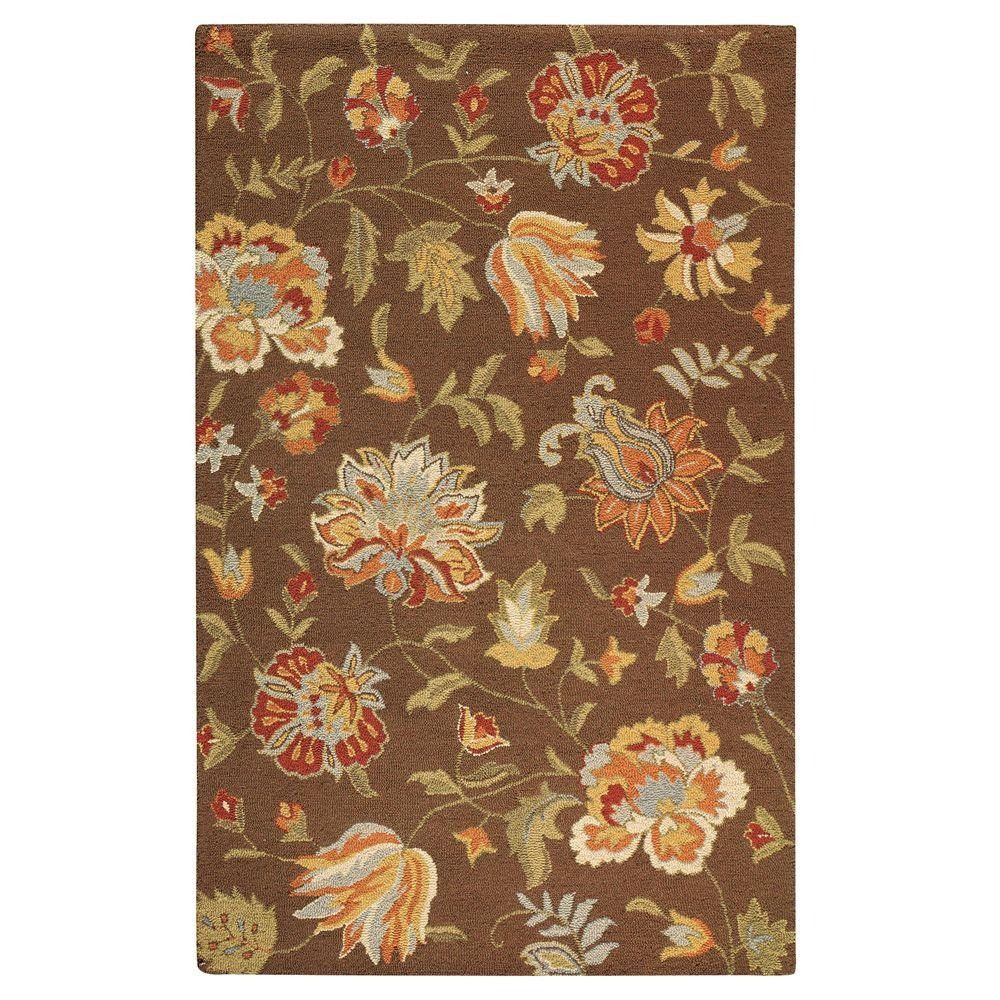 Home Decorators Collection Botanicals Almond Brown 5 ft. 3 in. x 8 ft. 3 in. Area Rug
