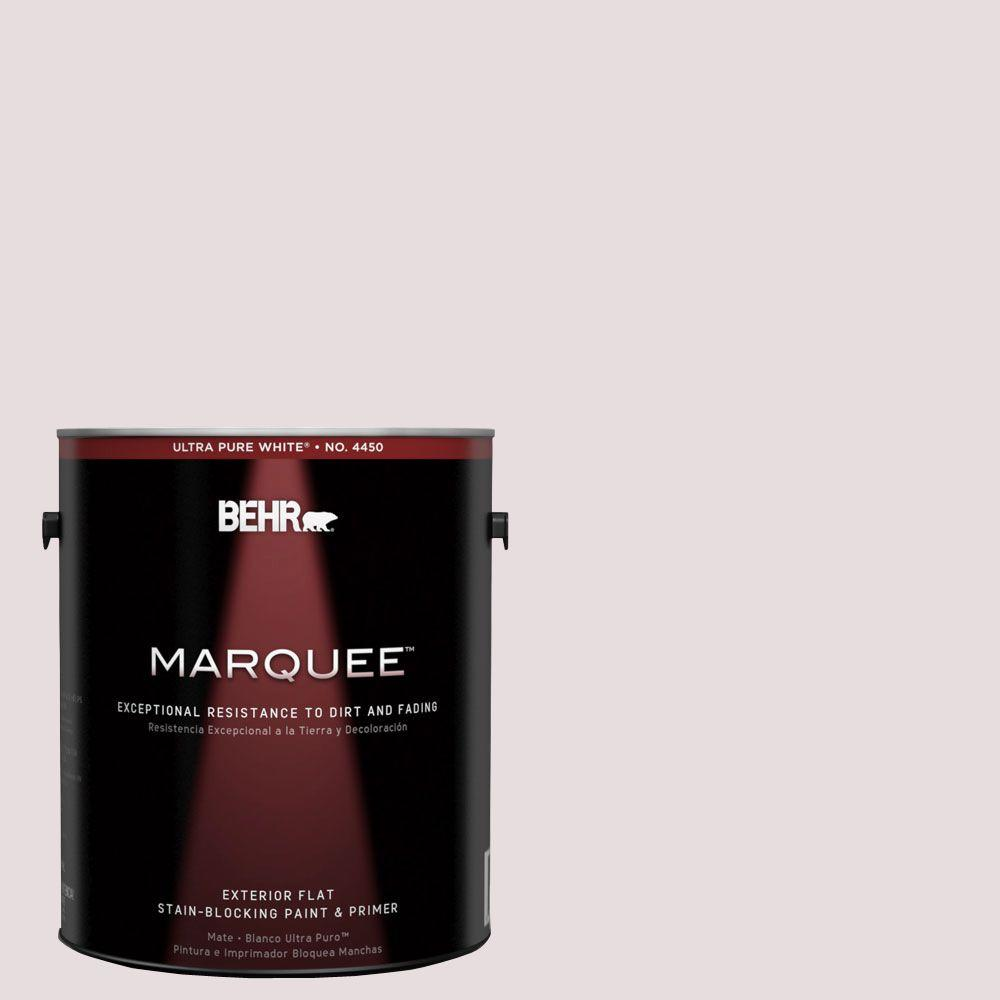 BEHR MARQUEE 1-gal. #100E-1 Coquette Flat Exterior Paint-445001 - The Home