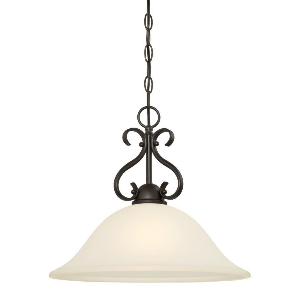 Westinghouse Dunmore 1-Light Oil Rubbed Bronze Pendant-6306000 - The Home Depot