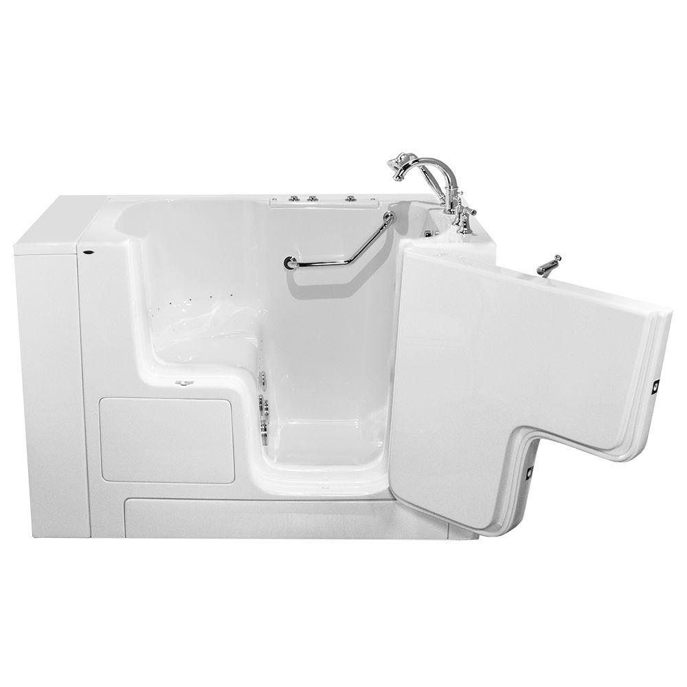 American Standard OOD Series 52 in. x 32 in. Walk-In Whirlpool and Air Bath Tub with Right Outward Opening Door in White