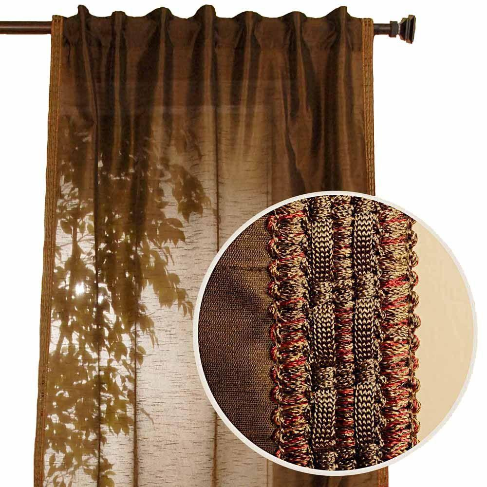 Home Decorators Collection Polysilk Moss Back Tab Curtain