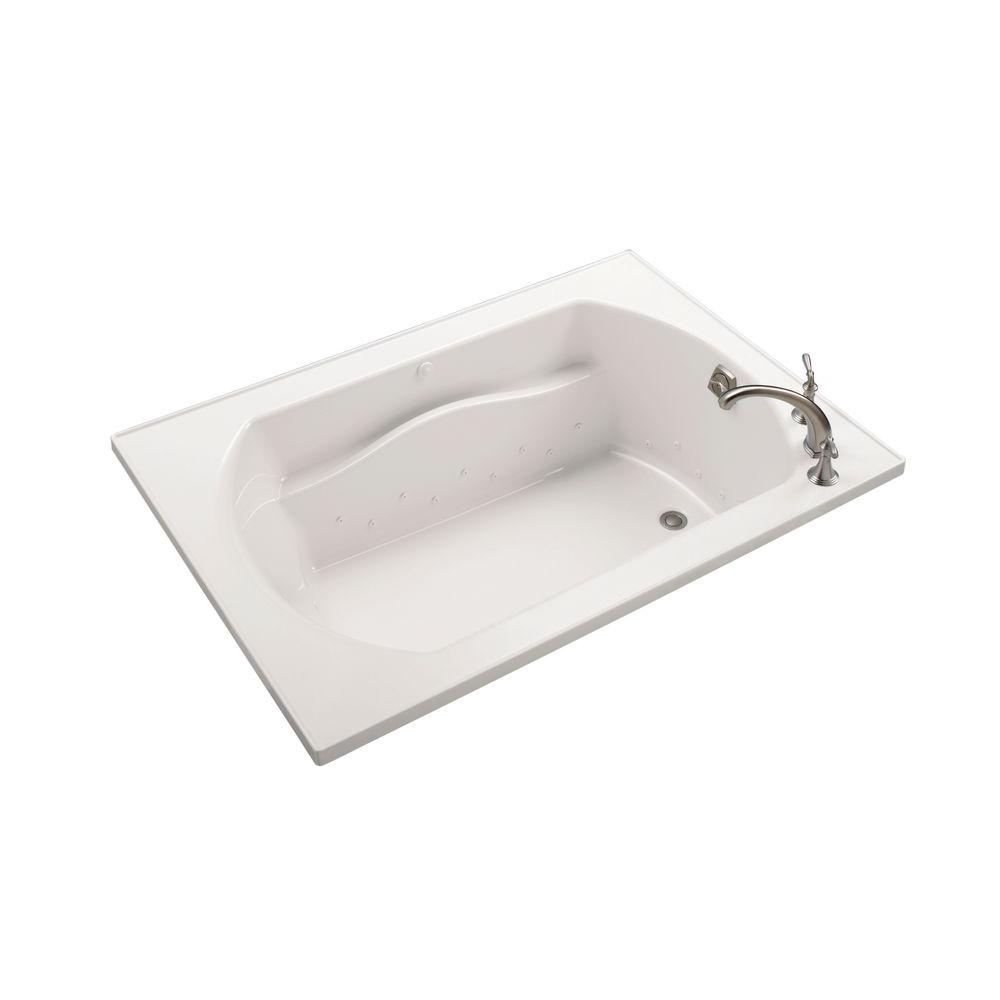 STERLING Lawson 5 ft. Air Bath Tub in Biscuit