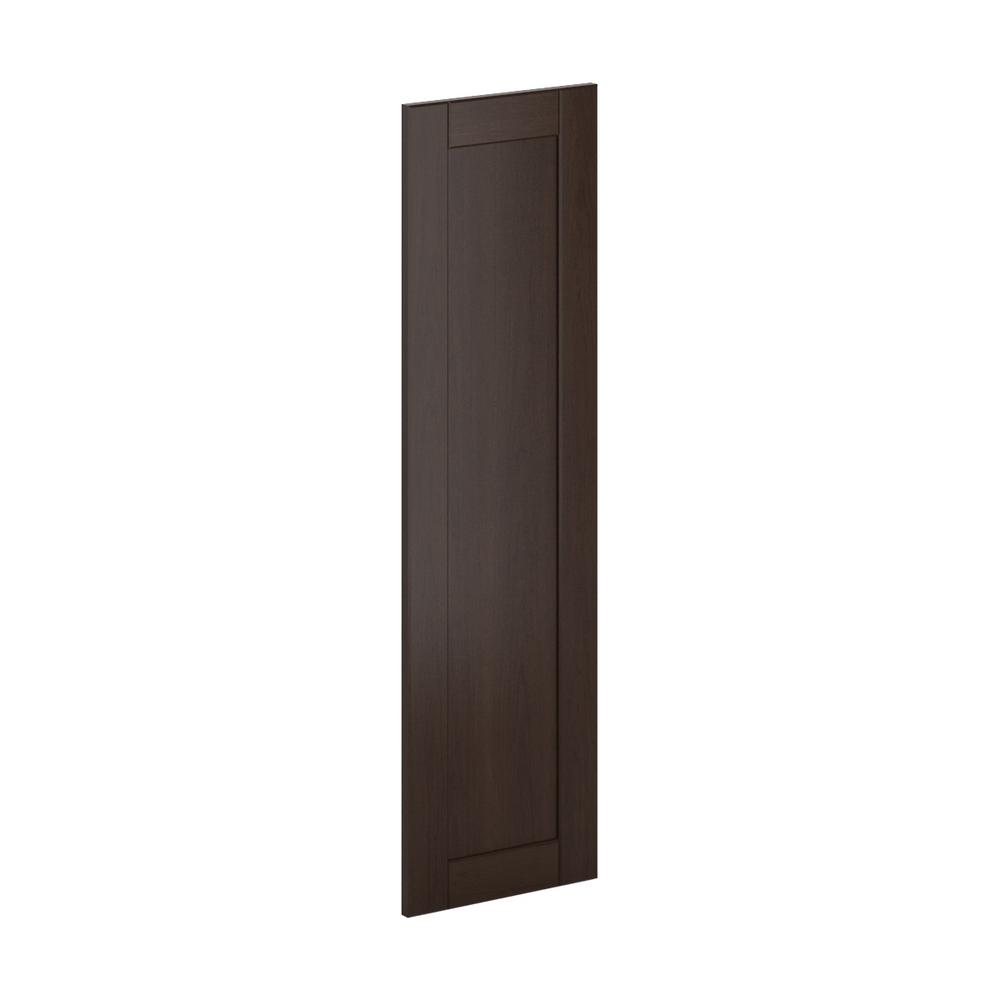 12x42x0.75 in. Princeton Wall Deco End Panel in Java