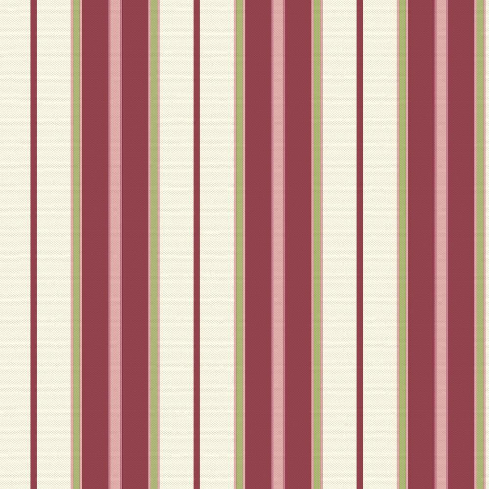 The Wallpaper Company 8 in. x 10 in. Newberry Stripe Red/Purple Wallpaper Sample-DISCONTINUED