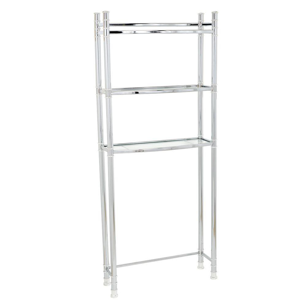 Zenith Studio Accents 25-1/2 in. Space Saver Unit in Chrome-DISCONTINUED