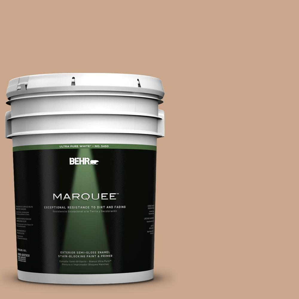 BEHR MARQUEE 5-gal. #UL130-8 Riviera Clay Semi-Gloss Enamel Exterior Paint