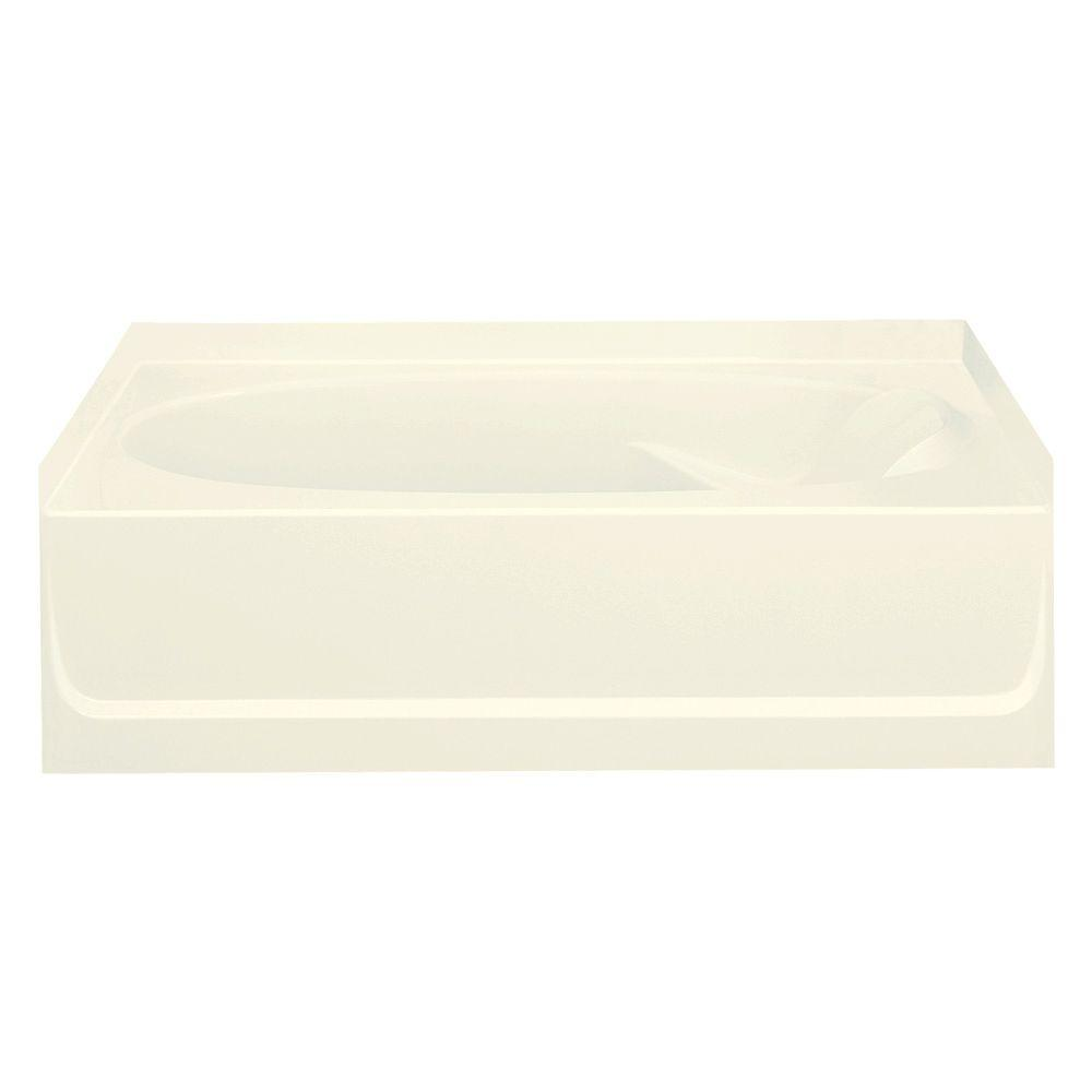 STERLING Ensemble 5 ft. Left Drain Soaking Tub in Biscuit-71101112-96 -