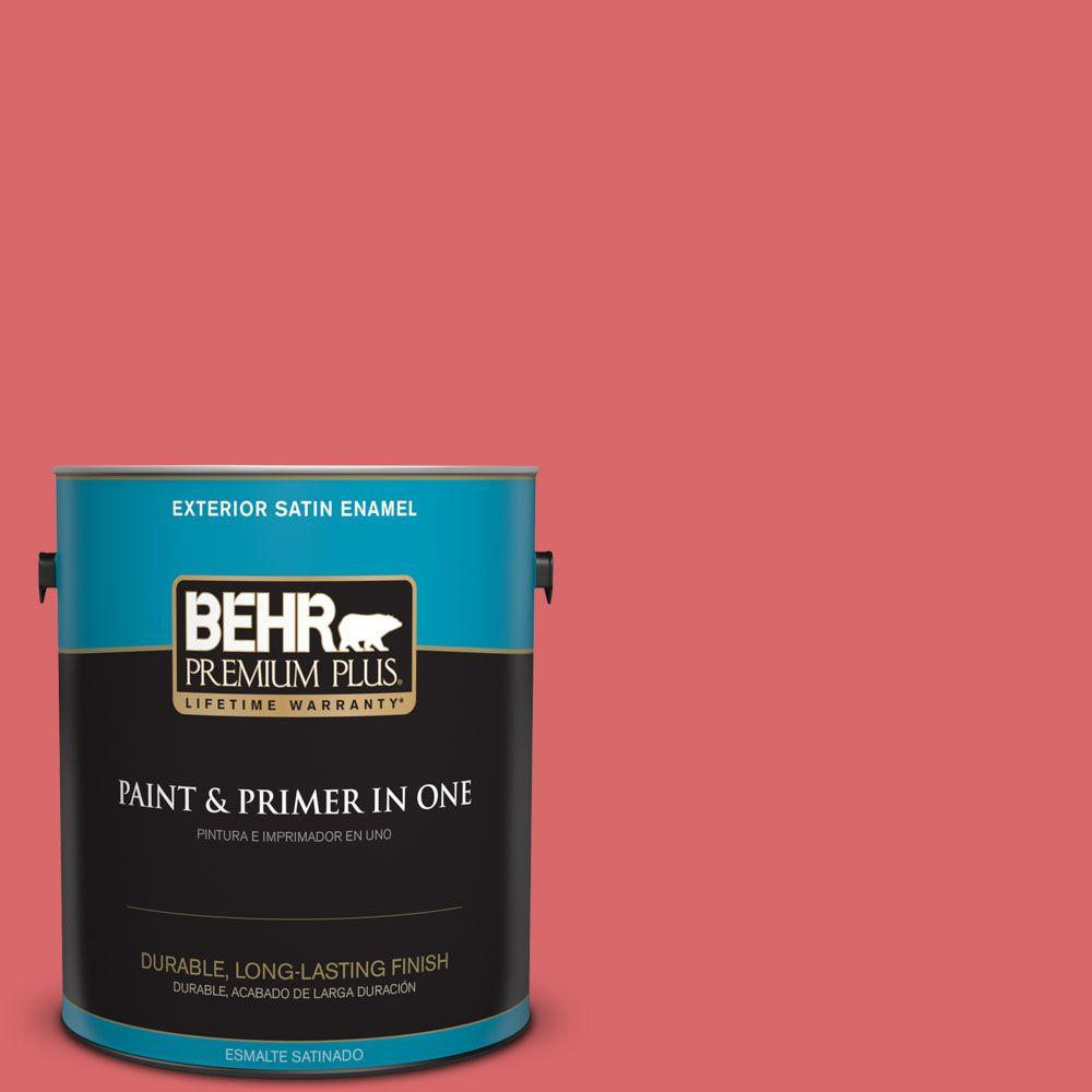 1-gal. #160B-6 Coral Expression Satin Enamel Exterior Paint