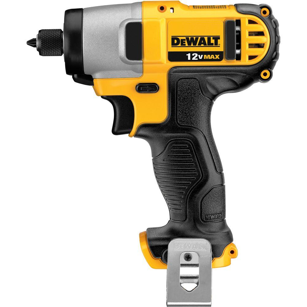 DEWALT 12-Volt Lithium-Ion 1/4 in. Cordless Impact Driver (Tool-Only)-DCF815B -