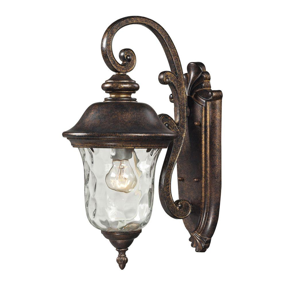 Titan Lighting Lafayette 1-Light Regal Bronze Outdoor Sconce-TN-8363 - The Home