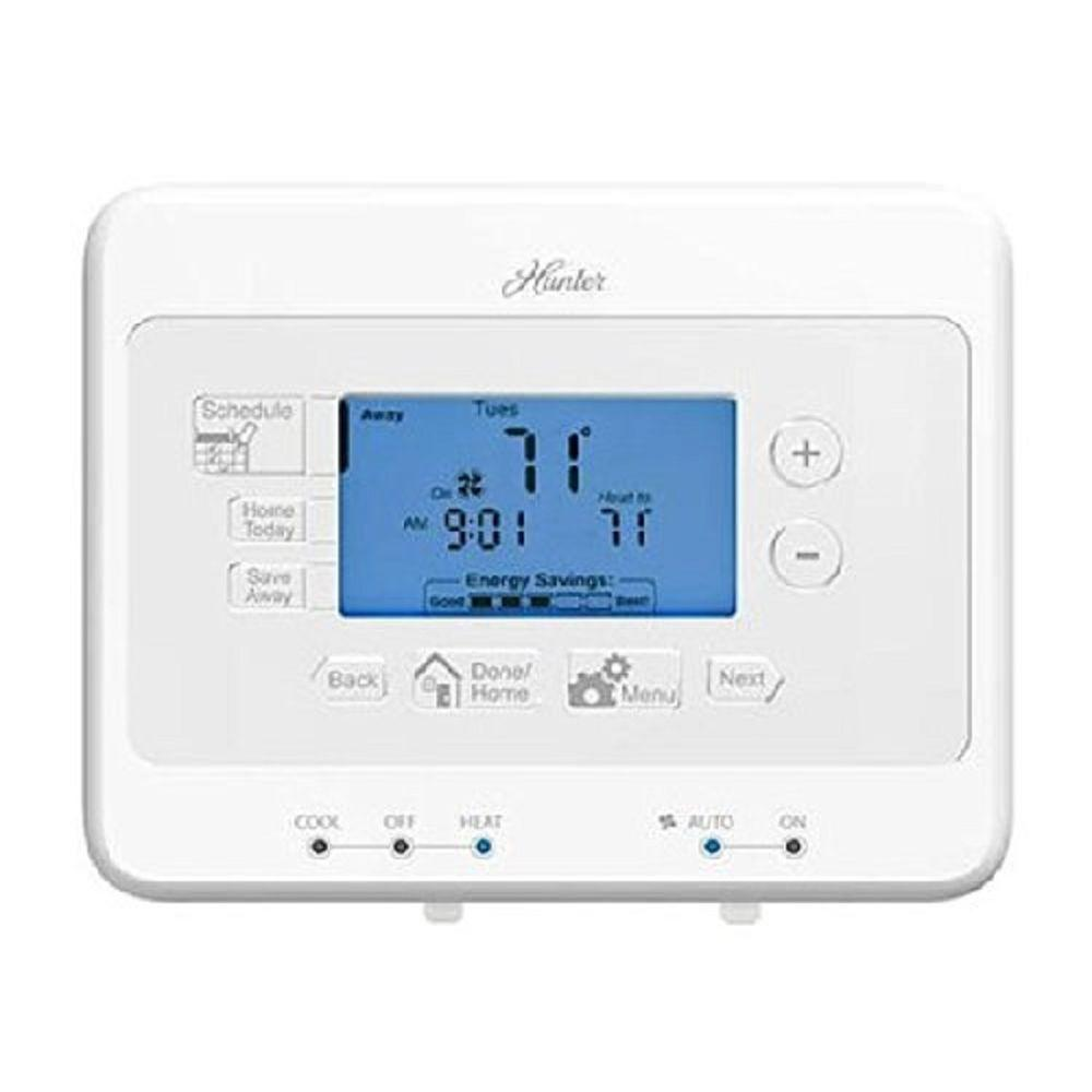 Hunter 7-Day Digital Room Programmable Thermostat-44379 - The Home Depot