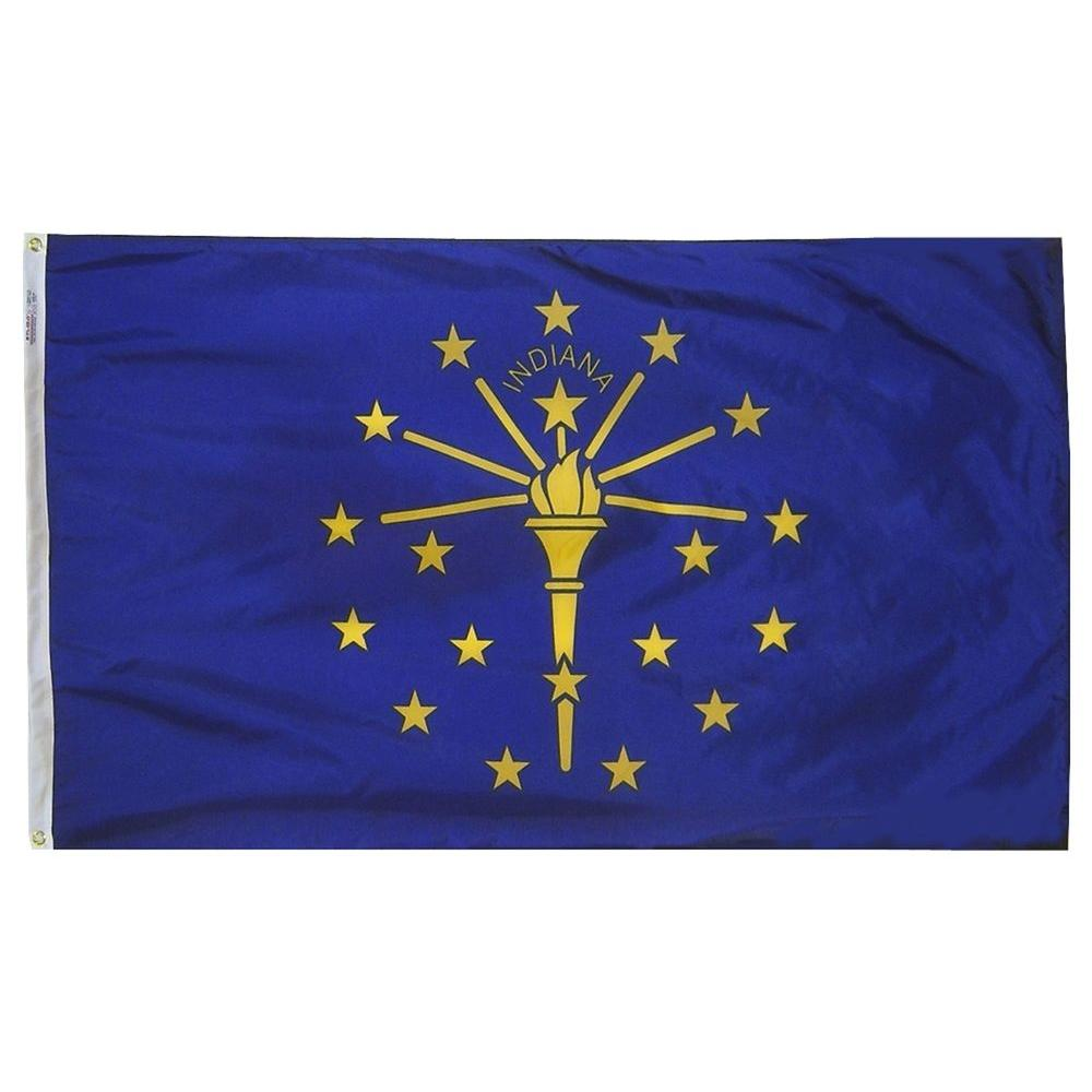 Annin Flagmakers 4 ft. x 6 ft. Indiana State Flag-141670 -