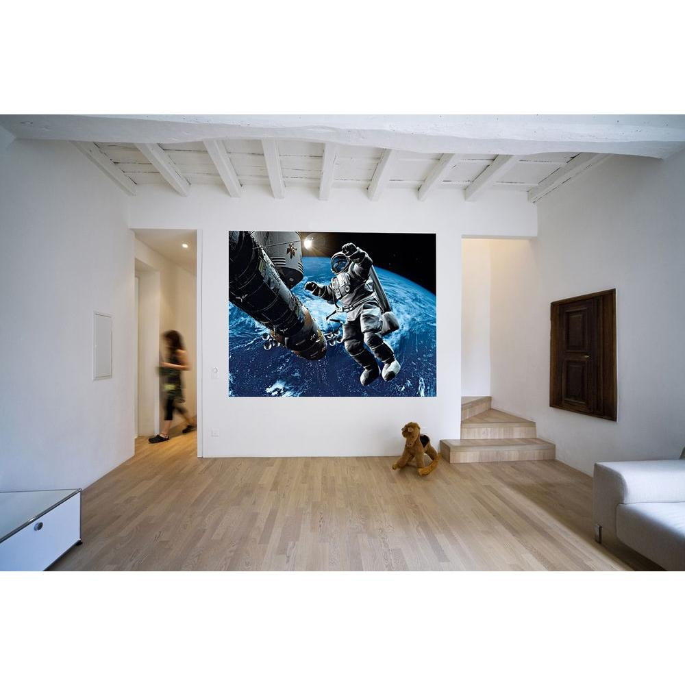 Ideal decor 79 in h x 63 in w space cowboy wall mural for Cowboy wall mural