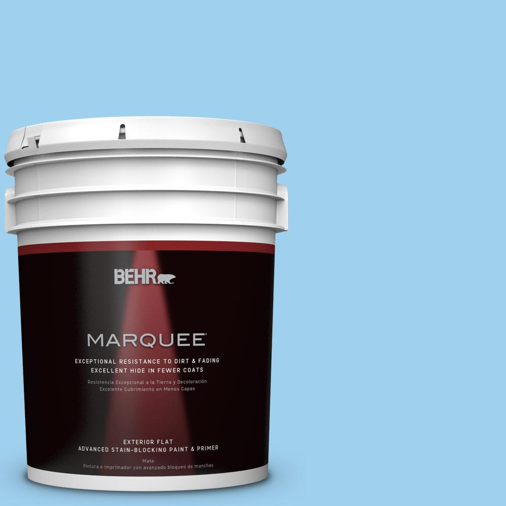 5-gal. #P500-3 Spa Blue Flat Exterior Paint