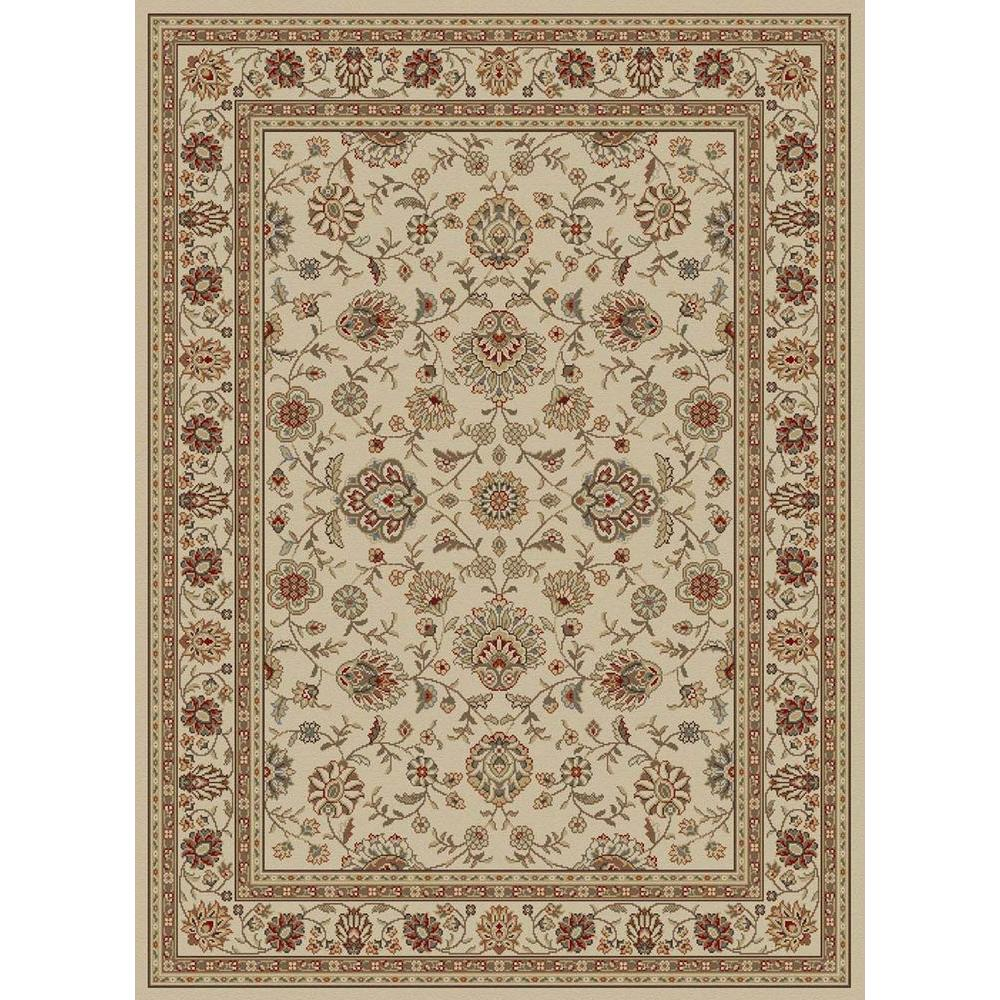 Tayse Rugs Elegance Ivory 5 ft. x 7 ft. Traditional Area