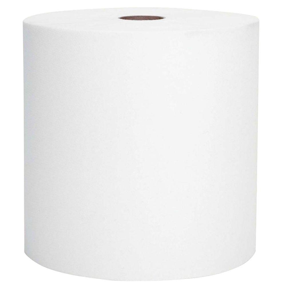 8 in. x 600 ft. Non-Perforated Hard-Roll Paper Towels (6-Carton)
