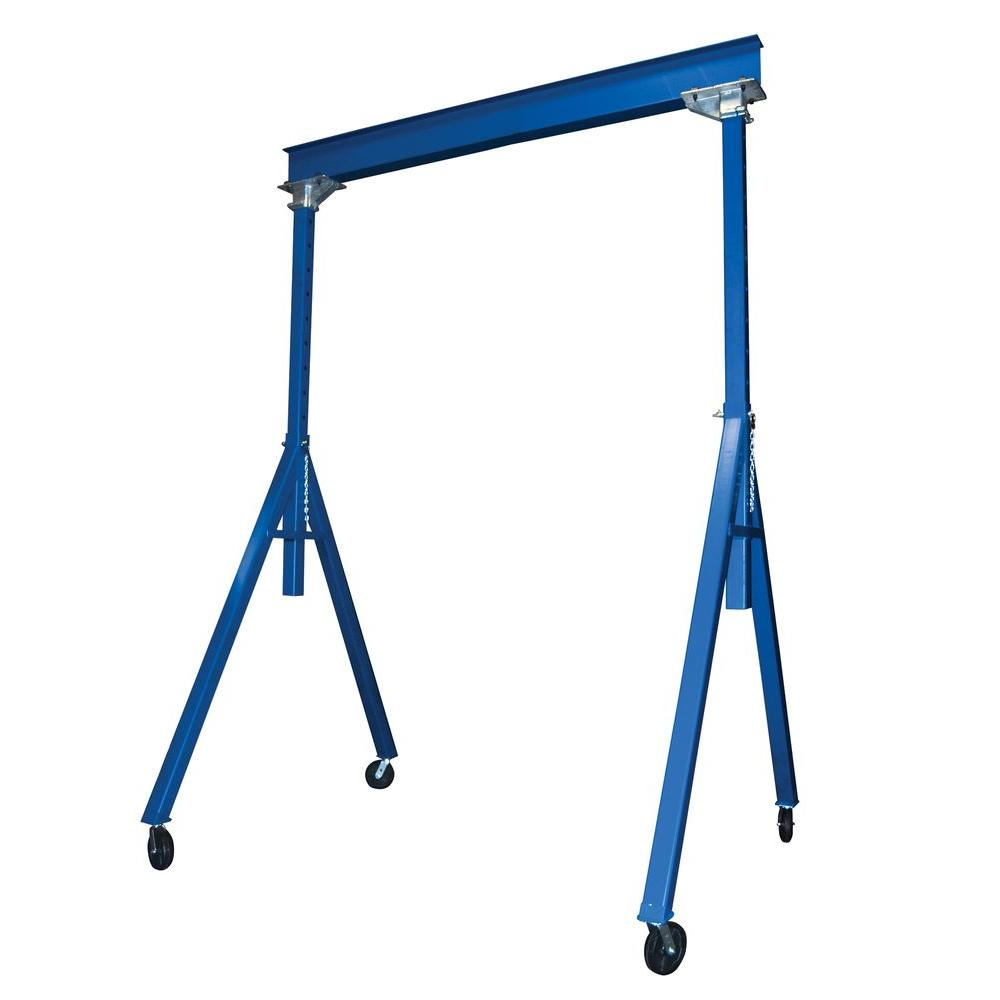 Blue 4000 lb. Steel Gantry Crane with Adjustable Height