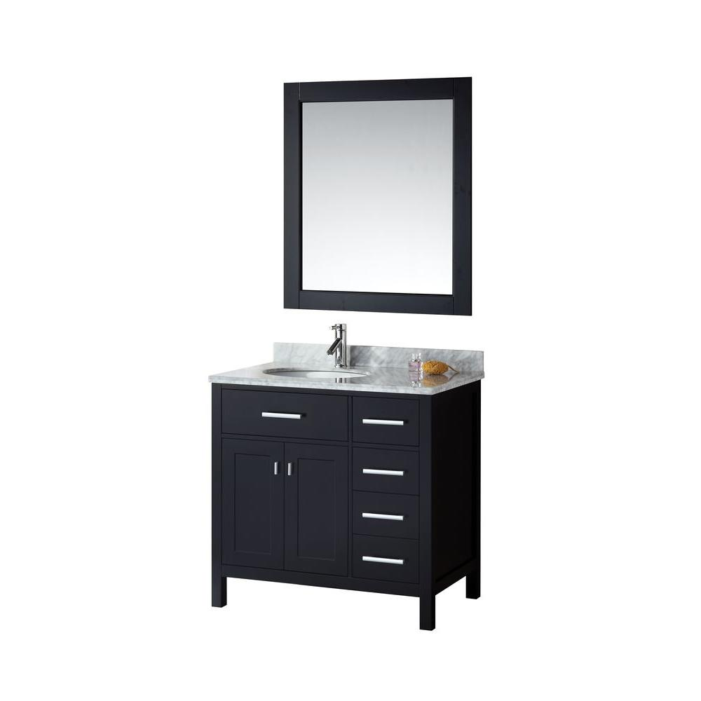 London 36 in. W x 22 in. D Vanity in Espresso