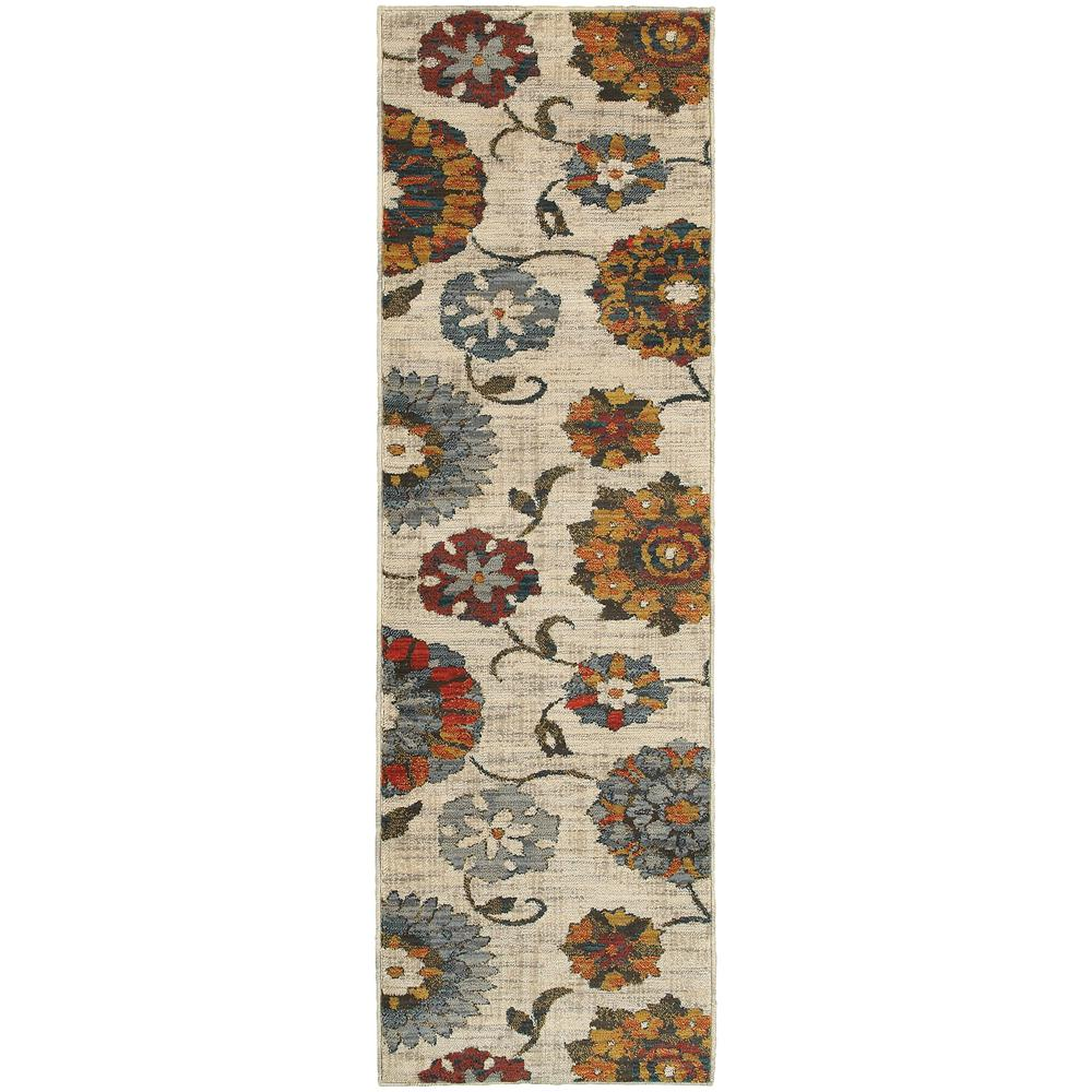 Margot Beige and Multi 2 ft. 3 in. x 7 ft.