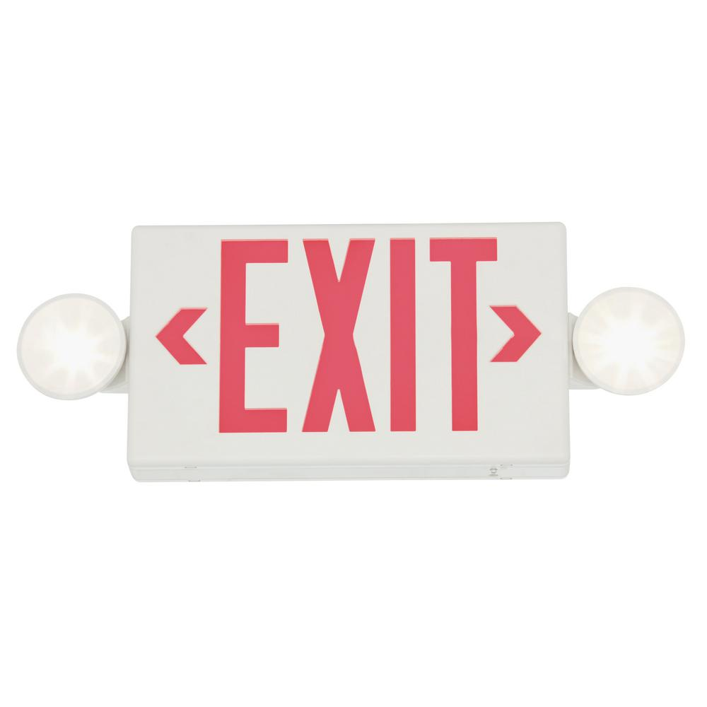 Exit sign with a safety code compliant design
