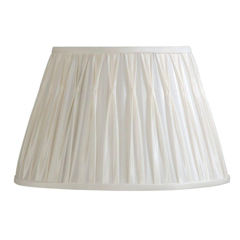 Laura Ashley Classic 13.5 in. Vanilla Pinched Pleat Shade