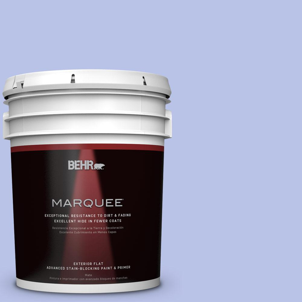 BEHR MARQUEE 5-gal. #P540-3 Canterbury Bells Flat Exterior Paint