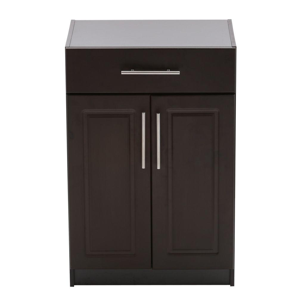 Hampton Bay Select 2-Door Base Cabinet with Drawer in Espresso