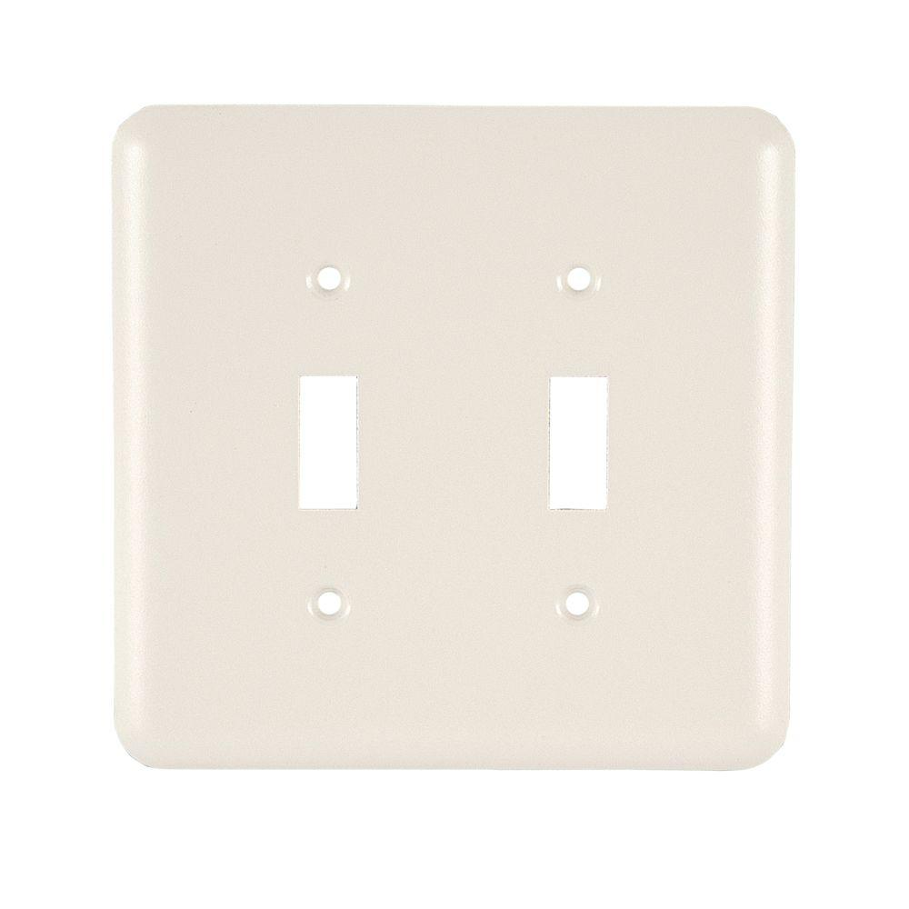 GE 1 Toggle Steel Switch Wall Plate - Ivory-52468 - The