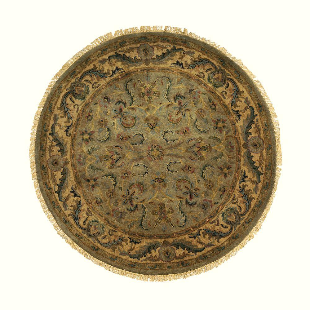 Vintage Circular Rug: Home Decorators Collection Chantilly Antique Green 7 Ft. 9