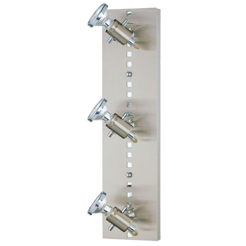 Eglo Fizz 3-Light Matte Nickel and Chrome Track Lighting Fixture