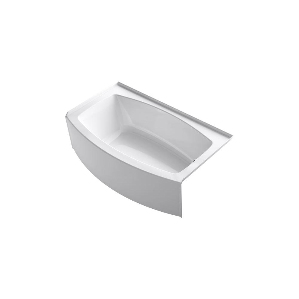 Expanse 5 ft. Right Drain Soaking Tub in White