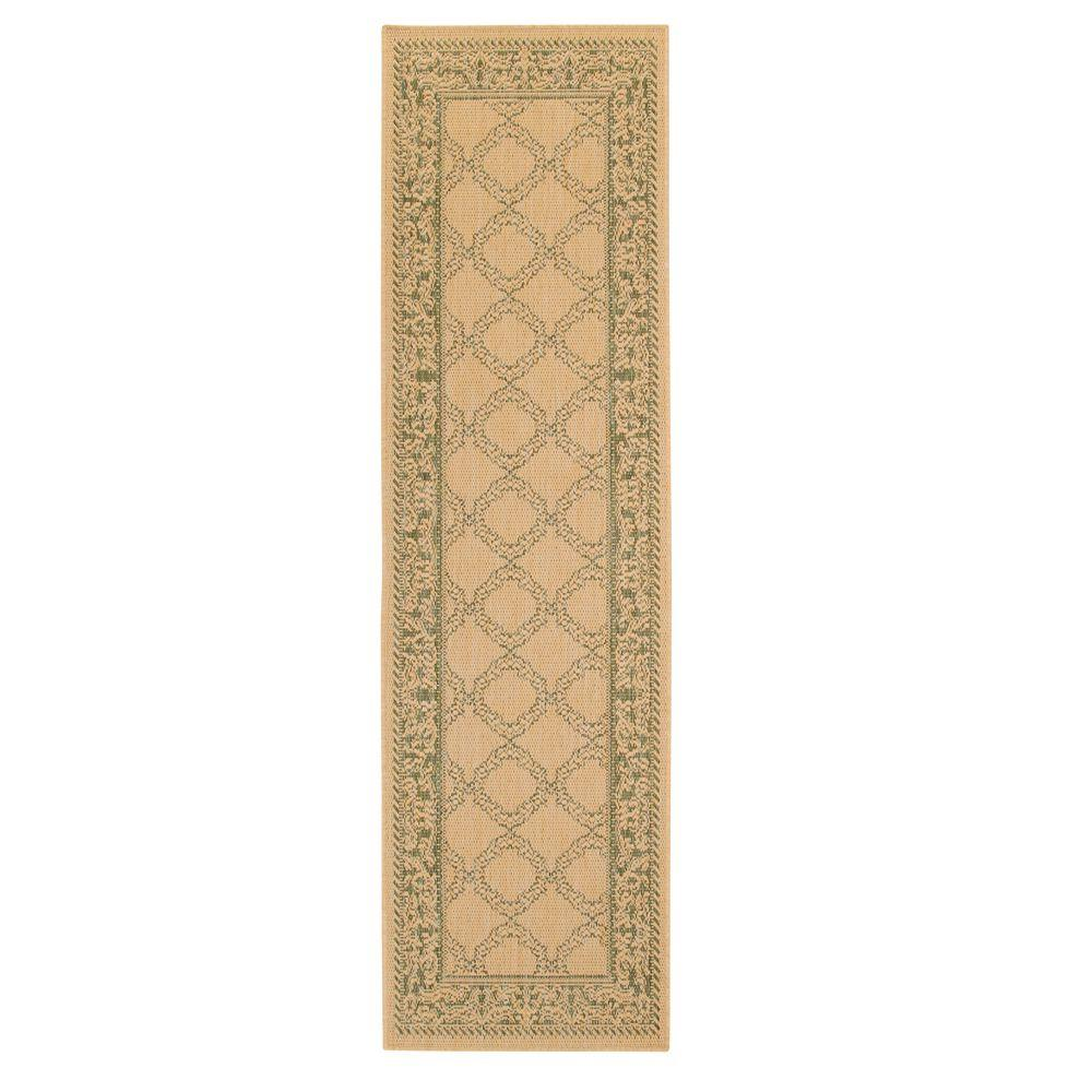 Home Decorators Collection Entwined Natural/Green 2 ft. 3 in. x 11 ft. 9 in. Rug Runner