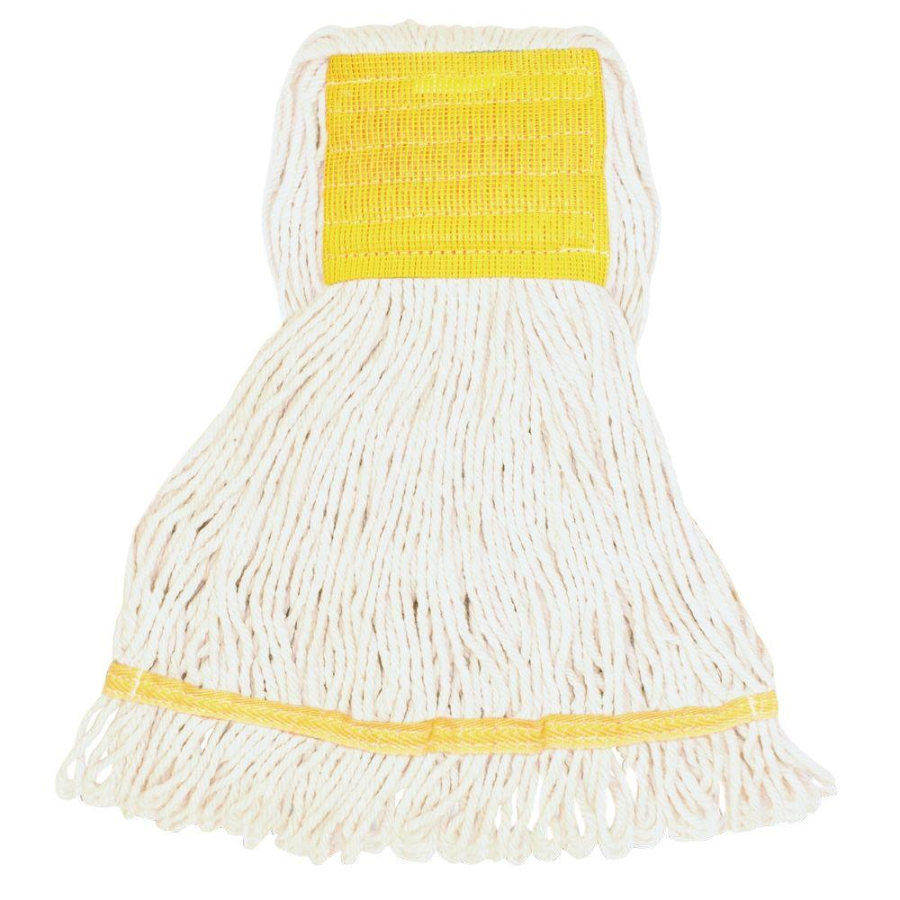 Genuine Joe Wide Band Small Rayon Cotton Mop Head-GJOSWH5BEA - The