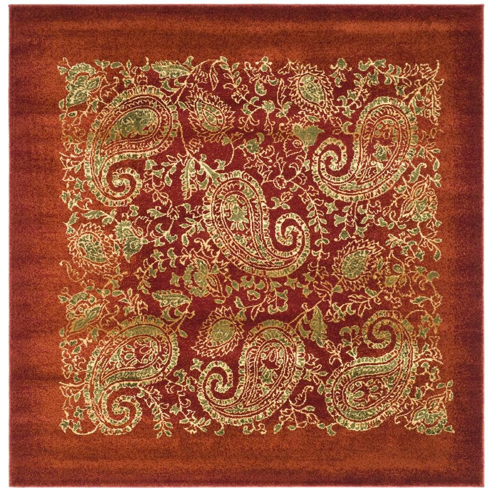 Lyndhurst Red/Multi 8 ft. x 8 ft. Square Area Rug