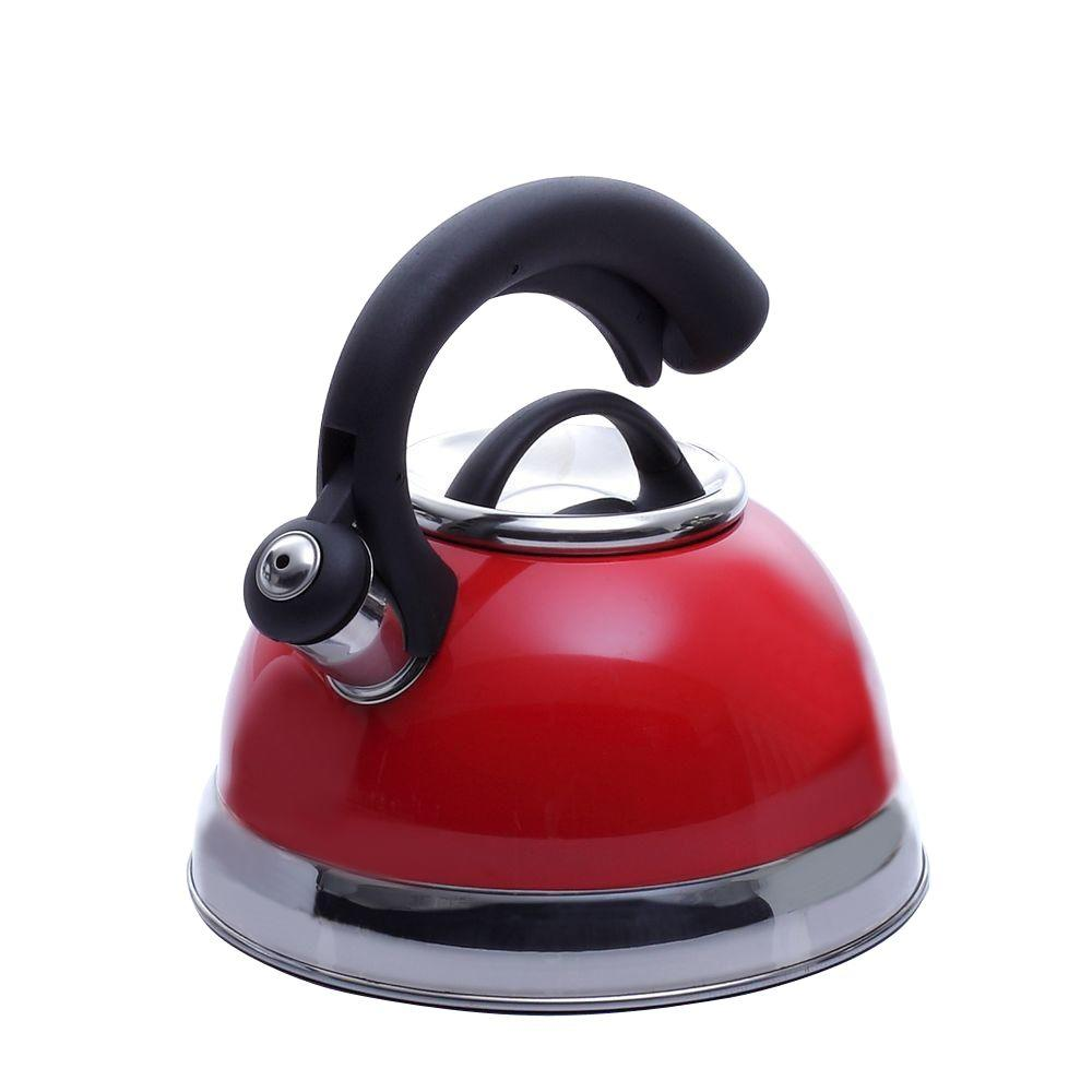 Symphony 10-Cup Tea Kettle with Stainless Steel in Pomegranate Red